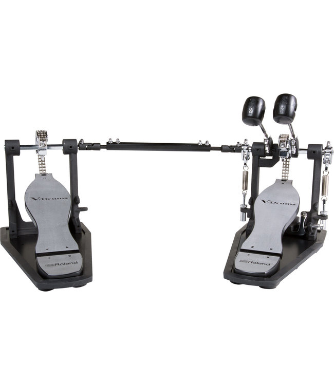 Roland RDH-102 double bassdrum pedal with noice eaters