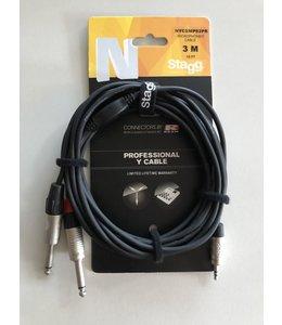 Stagg NYC3/MPS2PR Y kabel 2x Jack - mstJack 3.5mm