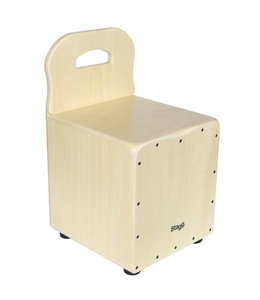 Stagg CAJ-KID-N kids cajon stoel natural + leuning