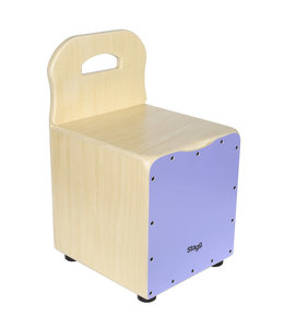 Stagg CAJ-KID-PP kids cajon stoel purple + leuning