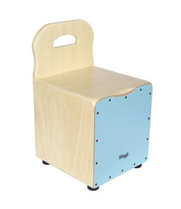 Stagg CAJ-KID-BL kids cajon stoel blue + leuning