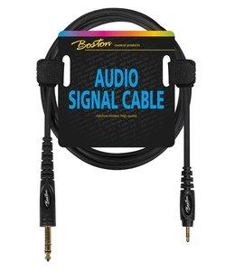 Boston kabel verloop mstJM 3.5mm - St-Jack 6.3mm 150cm