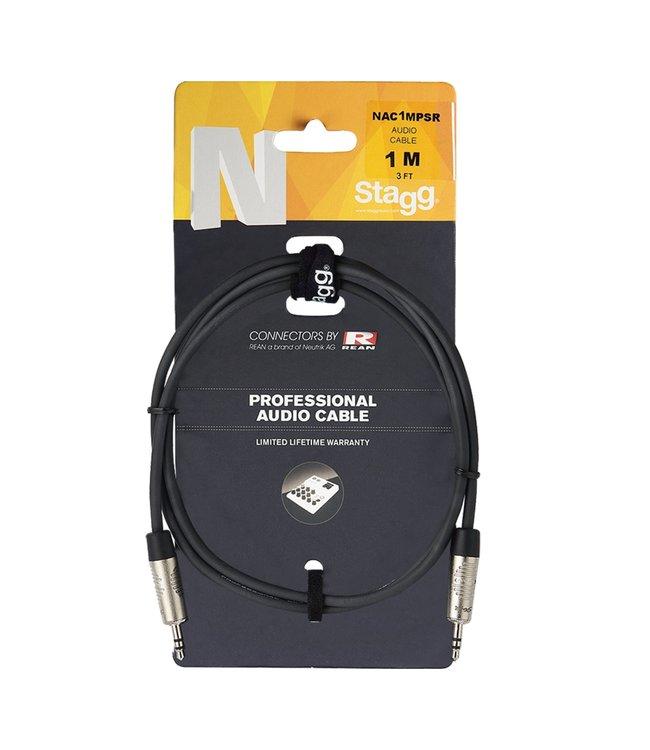 Stagg NAC3MPSR kabel mini stereo  1x mst-J 3.5mm  male- 1x mst-J 3.5mm male