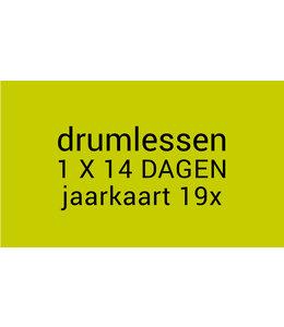 Busscherdrums Drumlessen jaarkaart 19 x 30 minuten 1x per 14 dagen lessen jongeren 606