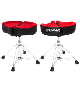 Ahead SPG-R3 Spinal Glide saddle Drum Throne drumkruk red 3 poot