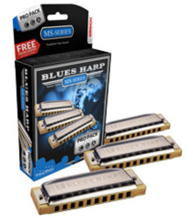 Hohner MS5330XP Mondharmonica, Blues Harp MS, C/G/A, Pro Pack