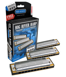 Hohner M5900XP Mondharmonica, Big River Harp MS, C/G/A, Pro Pack