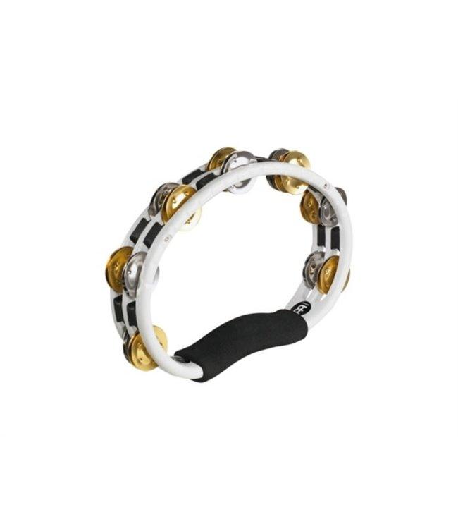 TMT1M-WH Tambourine white brass / nickle jingles