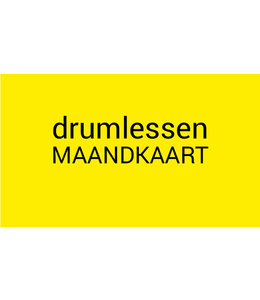 Henk Busscher Drum lessons monthly ticket 2x 25 minutes per month kids & youngsters MK2x25drs
