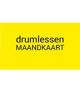 Henk Busscher Drumlessen maandkaart 2x 25 minuten per maand kids & jongeren MK2x25drs