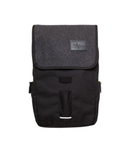 Zildjian Gray Flap Black Laptop Backpack T9001