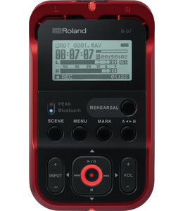Roland R-07 RD portable recorder player Red
