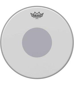 """REMO CS-0114-10  14"""" CS Slagvel ruw wit + zwarte dot onder, coated"""