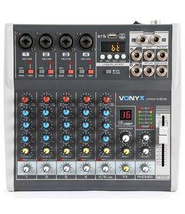VONYX VMM-K602 6-Kanaals Muziekmixer met DSP