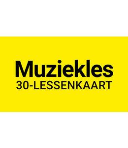 Henk Busscher Muziekles FLEX-30 Lessenkaart 30 minuten individuele lessen kids & jongeren 903ML