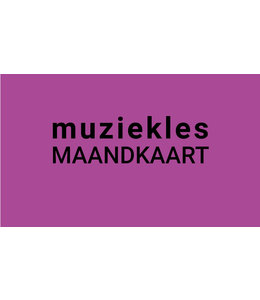 Henk Busscher Muziekles maandkaart 30 minuten wekelijks jongeren 103ML