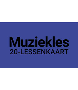 Henk Busscher Music Lessons FLEX-20 Lesson Card 30 Minutes Individual Lessons Kids & Young Adults 902ML