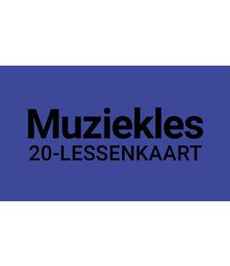 Henk Busscher Muziekles FLEX-20Lessenkaart 30 minuten individuele lessen kids & jongeren 902ML