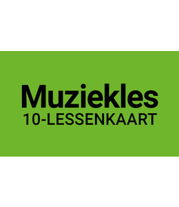 Henk Busscher Music Lesson FLEX-10 Lesson Card 30-Minute Individual Lessons Kids & Young Adults 901ML