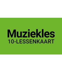 Henk Busscher Muziekles FLEX-10Lessenkaart 30 minuten individuele lessen kids & jongeren 901ML