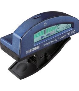 Boss TU-10 Clip-On Chromatic Tuner stemapparaat voor gitaar & basgitaar blauw