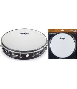 Stagg TAB-11OB/BK tamboerijn black met vel 10 inch
