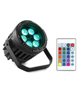 Beamz BWA63 LED Alu Par IP65 6x 3W RGB 150.765