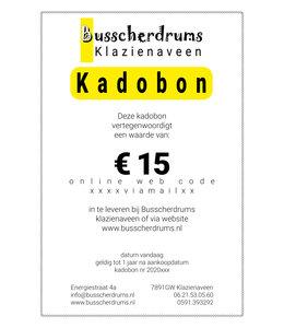 Busscherdrums Kado-bon €15,-