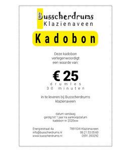 Busscherdrums Drumsles Kado-bon 30 minuten individueel
