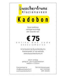 Busscherdrums Geschenkgutschein € 75.-