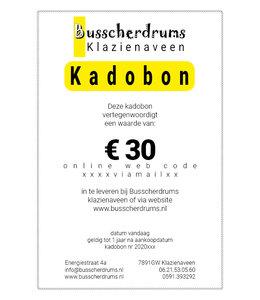Busscherdrums Kado-bon €30.-