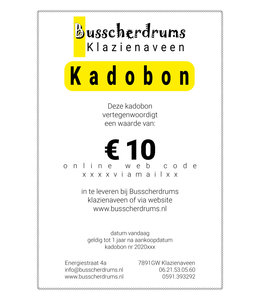 Busscherdrums gift voucher € 10, -