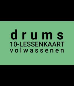 Henk Busscher Drumlessen FLEX-10Lessenkaart volwassenen 30 minuten LK10drs-vw
