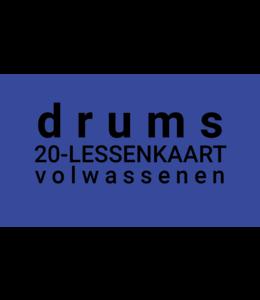 Henk Busscher Drum lessons FLEX-20 Lessons card adults 30 minutes LK20drsVW