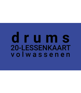 Henk Busscher Drumlessen FLEX-20Lessenkaart volwassenen 30 minuten LK20drsVW