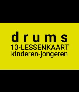 Henk Busscher Drum lessons FLEX-10Less card 30 minutes individual drum lessons kids & adolescents 901