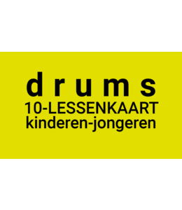Henk Busscher Drum Lessons FLEX 10Lessenkaart 30 Minuten Einzelschlagzeugunterricht Kinder & Jugend 901