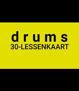 Henk Busscher Schlagzeugunterricht FLEX-30 Unterrichtskarte 30 Minuten Einzelunterricht für Kinder und Jugendliche LK30drs