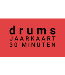 Henk Busscher Drum lessons annual card 38 x 30 minutes weekly kids & young people JK30drs