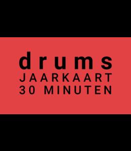 Henk Busscher Drumlessen jaarkaart 38 x 30 minuten wekelijks kids & jongeren JK30drs