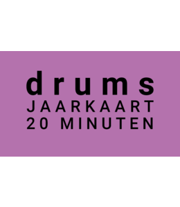 Henk Busscher Drum Lessons card 38 x 20-minute weekly youth 601