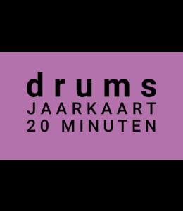 Henk Busscher Drumlessen jaarkaart 38 x 20 minuten wekelijks kids & jongeren JK20drs