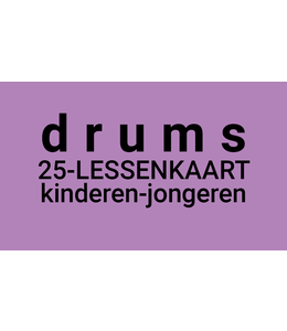 Henk Busscher Drum Lessons card 25 x 30-minute lessons in 2 weeks 3 610 youth