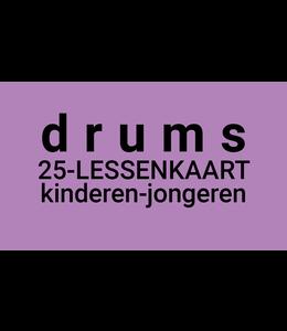 Henk Busscher Drumlessen FLEX-25 Lessenkaart 30 minuten  lessen kids & jongeren LK25drs