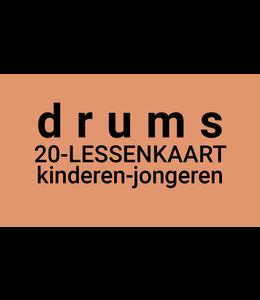 Henk Busscher Drumlessen FLEX-20Lessenkaart 30 minuten kids & jongeren LK20drs