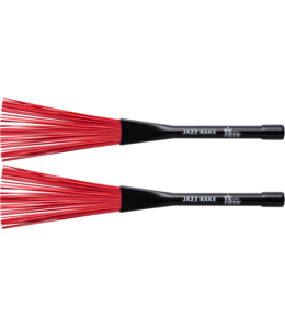 Vic Firth Jazz Rake brushes plastic red retractable BJR