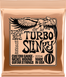 Ernie Ball CEB 2224 Turbo Slinky Nickel Wound snaren set voor elektrische gitaar