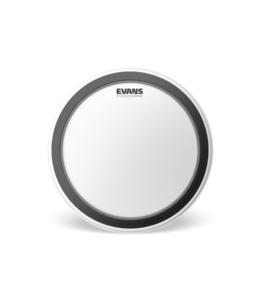 Evans EMAD Coated White Bass Drum Head, 18 Inch
