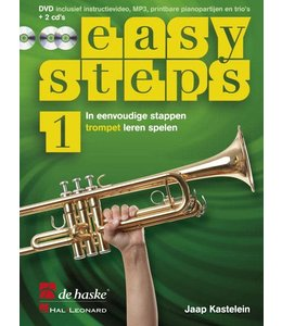 de Haske Easy Steps 1 trompet les boek