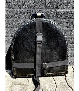 B-Percu Cymbal case retro old school black met centre screw